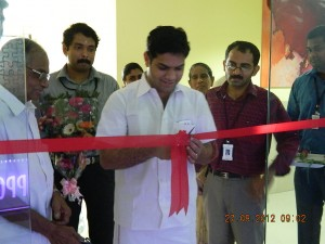 Honorable MLA Hibi Eden inaugurating the office.